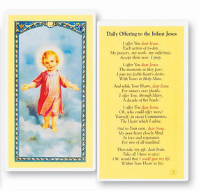 Daily Offering to the Infant Jesus Laminated Holy Card