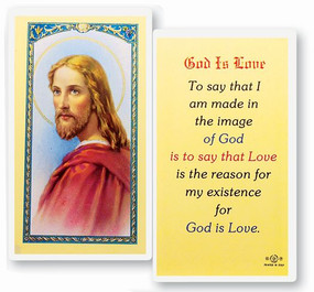 God Is Love Laminated Holy Card