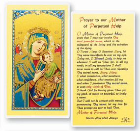 Prayer to our Mother of Perpetual Help Laminated Holy Card