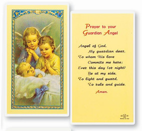 Guardian Angel Prayer Laminated Holy Card