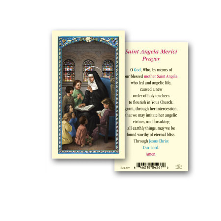 St. Angela Merici Laminated Holy Card