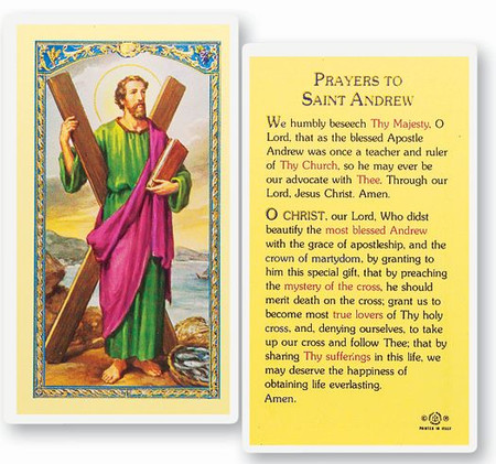 St. Andrew Laminated Holy Card
