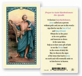 St. Bartholomew Prayer Laminated Holy Card