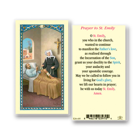 St. Emily Prayer Laminated Holy Card