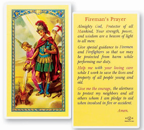 St. Florian Firefighter's Prayer Laminated Holy Card