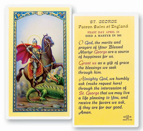 St. George Laminated Holy Card