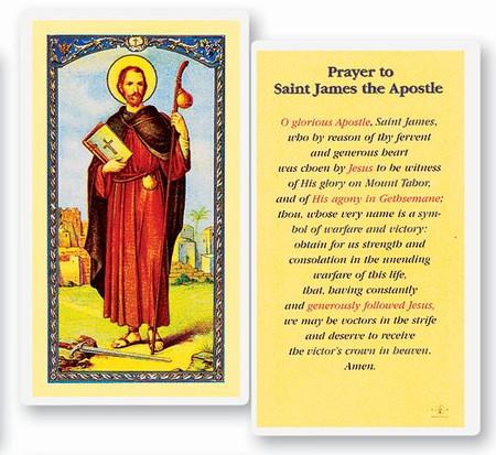 St. James the Apostle Prayer Laminated Holy Card