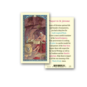 St. Jerome Prayer Laminated Holy Card
