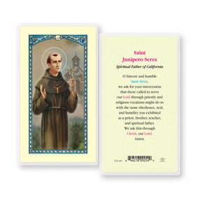 St. Junipera Serra Prayer Laminated Holy Card