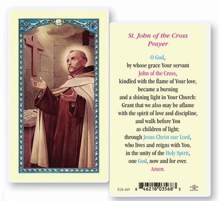 St. John of the Cross Prayer Laminated Holy Card