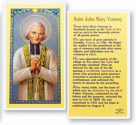 St. John Mary Vianney Laminated Holy Card