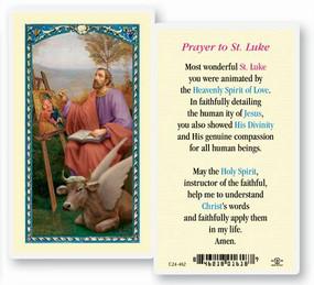 St. Luke Prayer Laminated Holy Card
