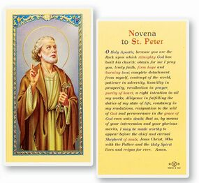 St. Peter Novena Laminated Holy Card
