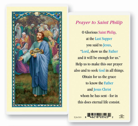 St. Philip Laminated Holy Card
