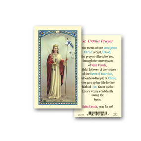 St. Ursula Prayer Laminated Holy Card