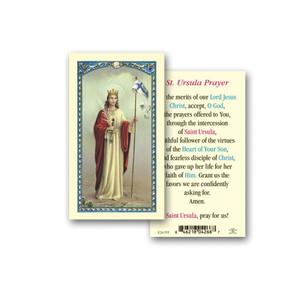 St. Ursula Prayer Laminated Holy Card