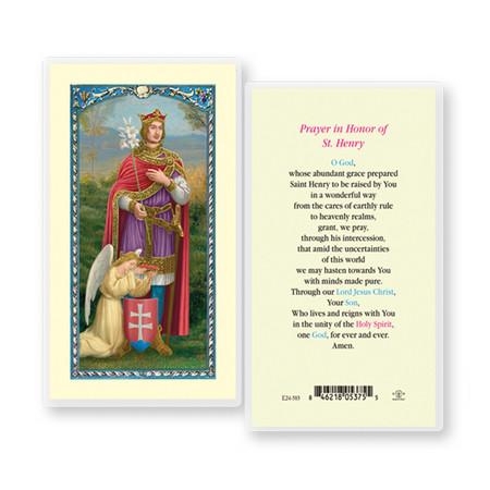 St. Henry Prayer Laminated Holy Card