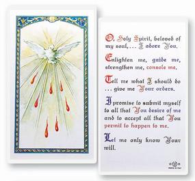 Holy Spirit Prayer Laminated Holy Card