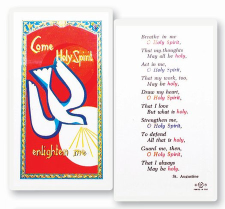 Holy Spirit Laminated Holy Card