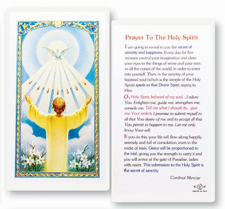 Holy Spirit Confirmation Prayer Laminated Holy Card