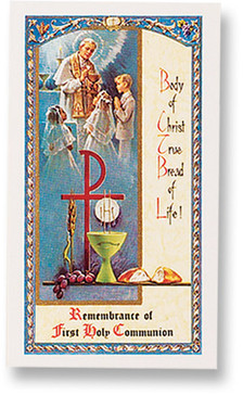 My First Holy Communion Laminated Holy Card