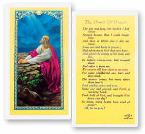 Power of Prayer Laminated Holy Card