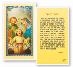 Parent's Prayer Laminated Holy Card