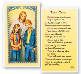 Teen Creed Laminated Holy Card