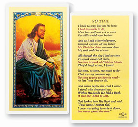No Time Laminated Holy Card
