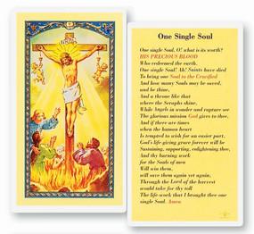 One Single Soul Laminated Holy Card