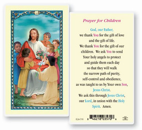 Prayer for Children Laminated Holy Card