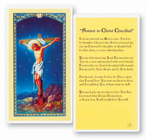 Sonnet to Christ Crucified Laminated Holy Card