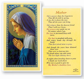Mother Laminated Holy Card