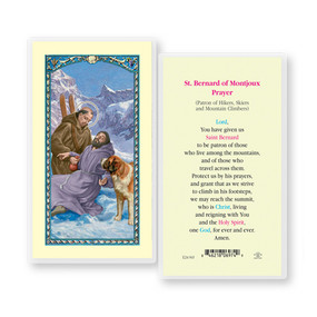 St. Bernard of Montijoux Prayer Laminated Holy Card