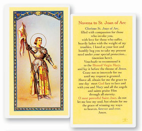 St. Joan of Arc Novena Laminated Holy Card