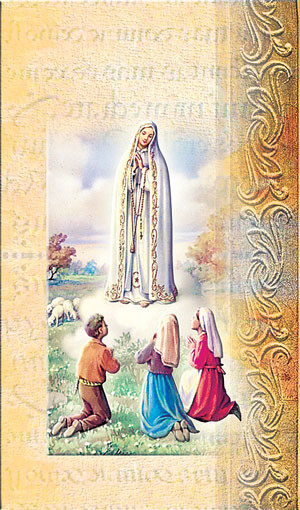 Our Lady of Fatima Biography Card