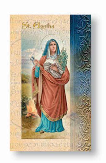 St. Agatha Biography Card