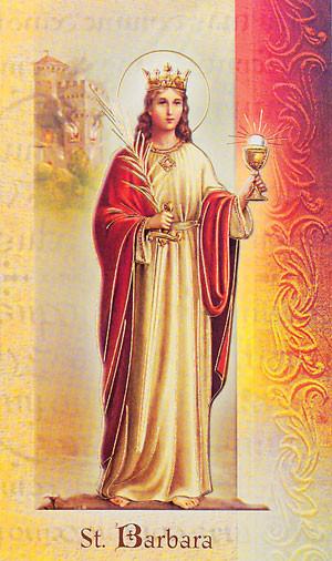 St. Barbara Biography Card