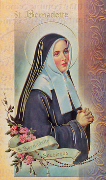St. Bernadette Biography Card