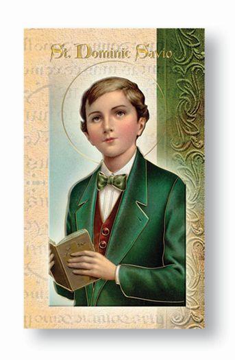 St. Dominic Savio Biography Card