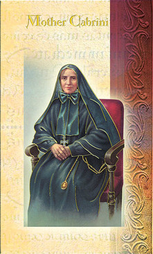 St. Francis Xavier Cabrini (Mother Cabrini) Biography Card