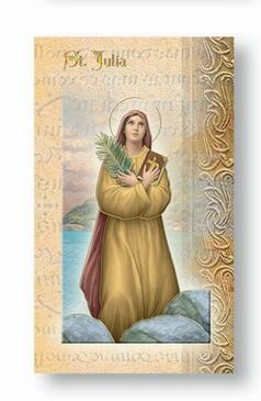 St. Julia Biography Card