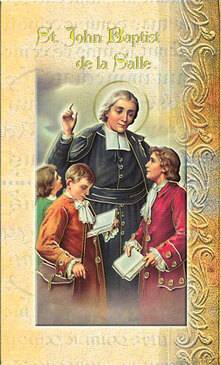 St. John the Baptist de la Salle Biography Card
