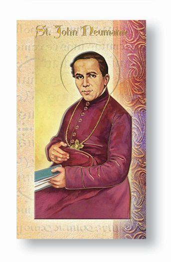 St. John Neumann Biography Card
