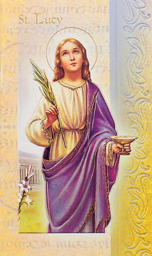 St. Lucy Biography Card