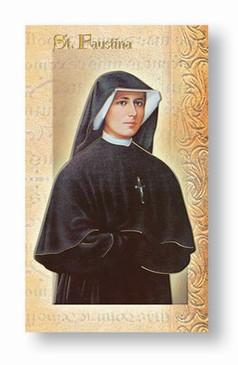 St. Maria Faustina Biography Card