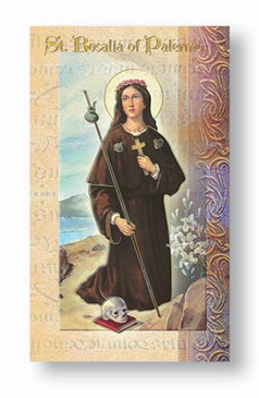 St. Rosalia of Palermo Biography Card