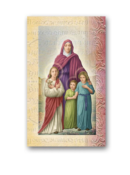 Sts. Sophia, Faith, Hope, and Love Biography Card