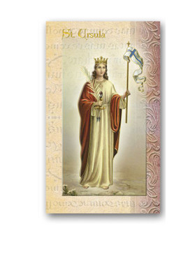 St. Ursula Biography Card