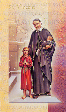 St. Vincent de Paul Biography Card